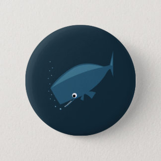 Simple Whale 6 Cm Round Badge