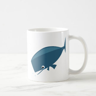 Simple Whale Basic White Mug