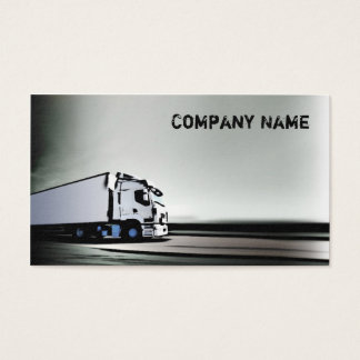 Simple White & Black Truck On The Road Card