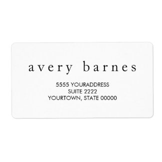 Simple White Creative Professional Modern Shipping Label