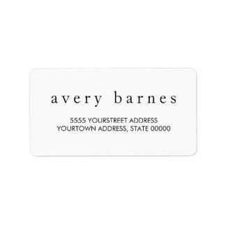 Simple White Creative Professional Modern Address Label