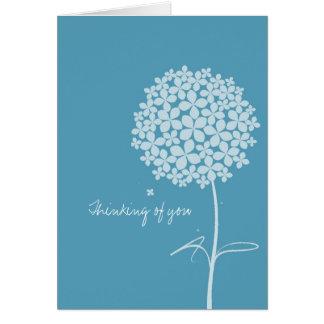 Simple White Dandelion Card