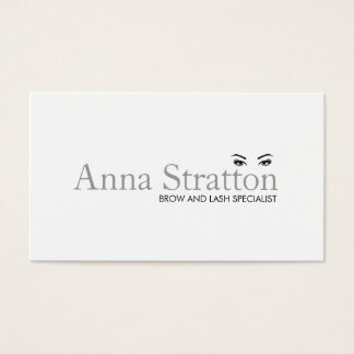 Simple White Eyes and Brows Salon and Spa Business Card