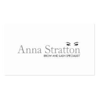 Simple White Eyes and Brows Salon and Spa Pack Of Standard Business Cards