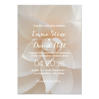 Simple White Floral Garden Wedding Party Card