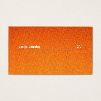 Simple White Line / Textile Gradient Business Card