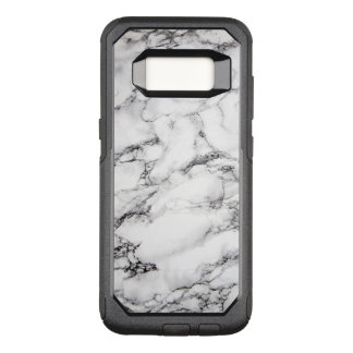 Simple White Marble Stone OtterBox Commuter Samsung Galaxy S8 Case