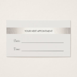 Simple White Modern FAUX Silver Stripe Appointment