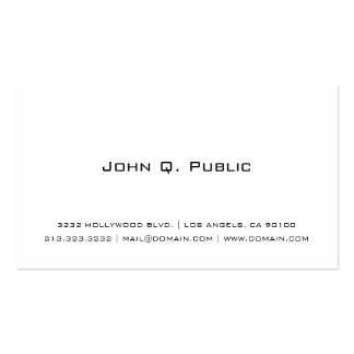 Simple White Pack Of Standard Business Cards