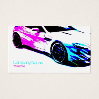 Simple White Painted Race Car Card