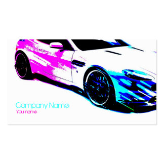 Simple White Painted Race Car Card Business Card Template
