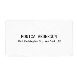 Simple White Professional Contemporary Shipping Label