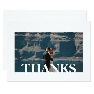 SIMPLE WHITE THANK YOU PHOTO MESSAGE CARD