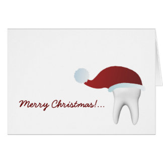 Simple White Tooth Christmas Greeting Card