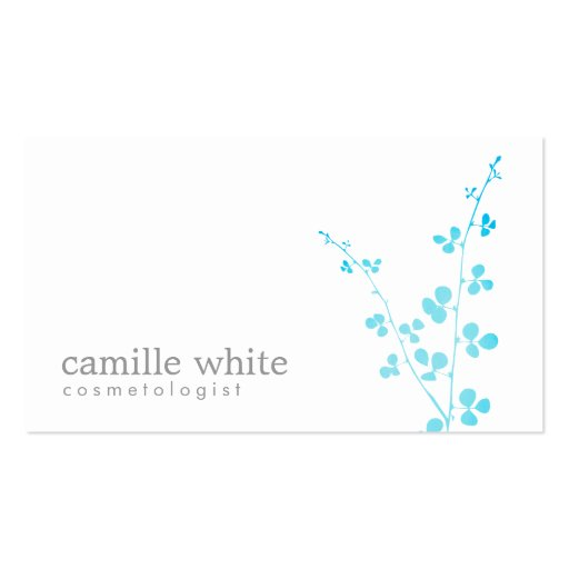 Simple white turquoise branch salon and spa pack of for Salon turquoise