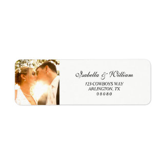 Simple White with your Photo Wedding