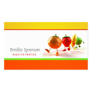 Simple White, Yellow & Orange Healthy Life Card Pack Of Standard Business Cards