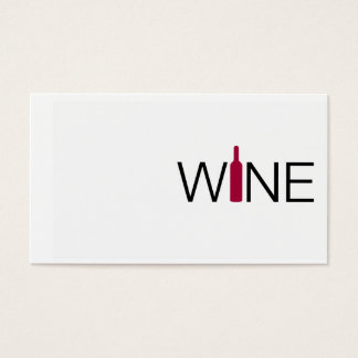 Simple Wine Business Card