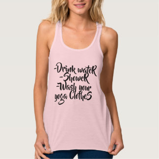 Simple with yoga. tank top