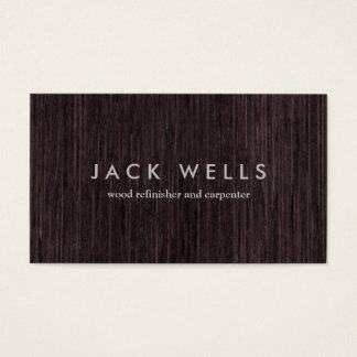 Simple Wood Grain Rustic Carpenter Carpentry Business Card
