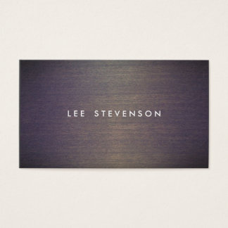 Simple Wood Minimalistic  Professional Designer Business Card