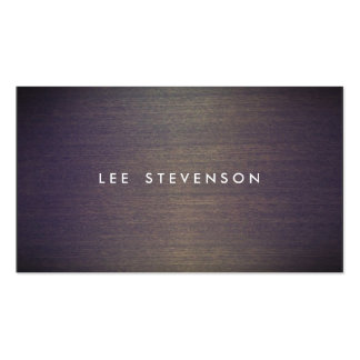 Simple Wood Minimalistic  Professional Designer Pack Of Standard Business Cards