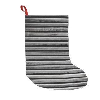 Simple Wood Stripe Pattern Small Christmas Stocking