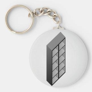 Simple wooden bookshelf design key ring