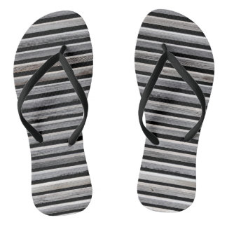 Simple Wooden Stripes Flip Flops