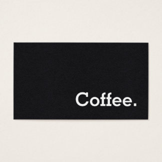 Simple Word Black Loyalty Coffee Punch-Card Business Card