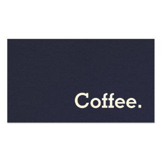 Simple Word Dark Felt Loyalty Coffee Punch-Card Pack Of Standard Business Cards