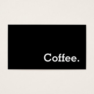 Simple Word Dark Loyalty Coffee Punch-Card