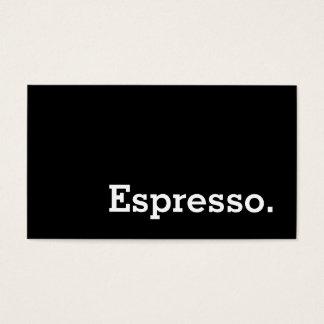Simple Word Dark Loyalty Espresso Punch-Card Business Card