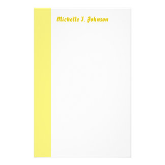 simple yellow border stationery