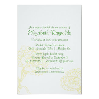 Simple Yellow & Green Bridal Shower Invitations