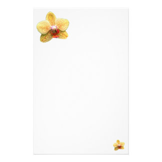 Simple Yellow Orchid Stationery