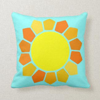 Simple Yellow Sun Throw Pillows