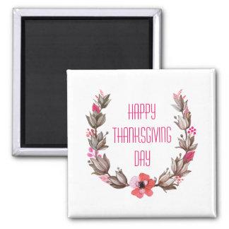 Simple yet Elegant Happy Thanksgiving | Magnet