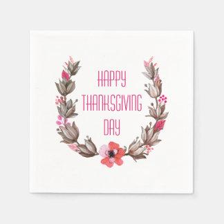 Simple yet Elegant Happy Thanksgiving   Napkin Disposable Serviettes