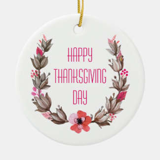Simple yet Elegant Happy Thanksgiving Ornament