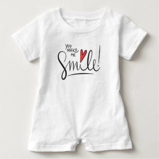 Simple yet Pretty You Make Me Smile | Baby Romper Baby Bodysuit