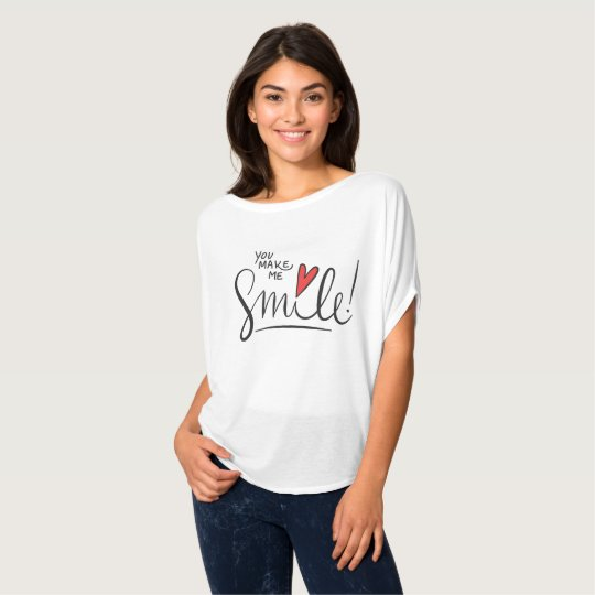 Simple yet Pretty You Make Me Smile | Canvas Shirt