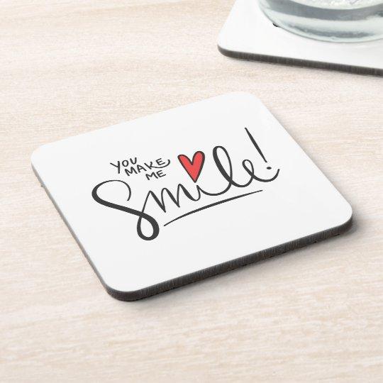 Simple yet Pretty You Make Me Smile | Coaster