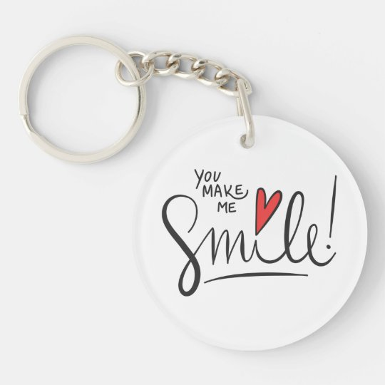 Simple yet Pretty You Make Me Smile Keychain