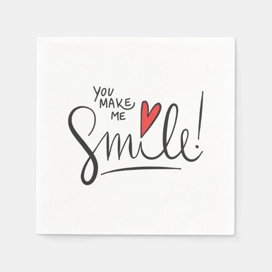 Simple yet Pretty You Make Me Smile | Napkin Disposable Serviette