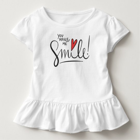 Simple yet Pretty You Make Me Smile | Ruffle Tee