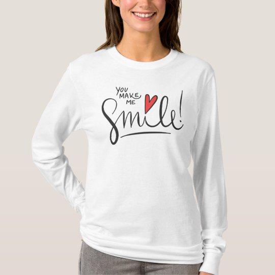 Simple yet Pretty You Make Me Smile | Sleeve Shirt