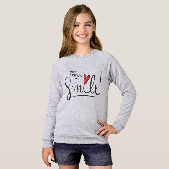 Simple yet Pretty You Make Me Smile | Sweatshirt