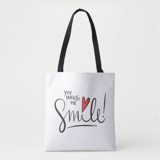 Simple yet Pretty You Make Me Smile Tote Bag