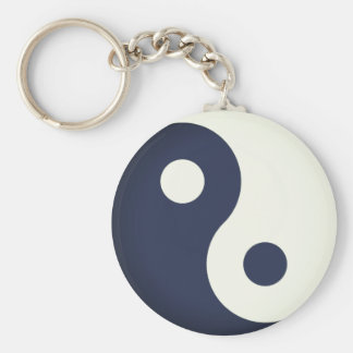 Simple Yin-Yang Key Ring